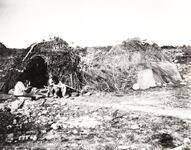 Typical Apache Indian huts at the San Carlos Agency, Arizona
