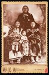 Black Coyote and his two wives and two babies