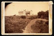 View of Cheyenne School, located at Caddo Springs, Cheyenne and Arapaho agency, I.T.