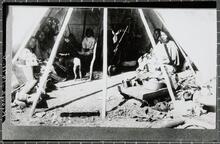 Interior of Kiowa tipi