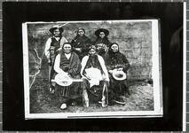 Group of six chiefs: Chewas-a-kan, Tab-i-nan, Kei-ki-ne, Te-be-gey-sey, Ad-de-bey, Po-hae-i-cey