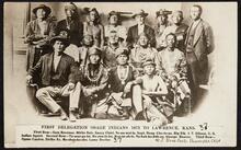 First Delegation, Osage Indians, Lawrence, Kansas
