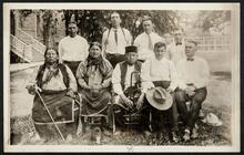 Osage group including Paul Red Eagle, Washosha, and Andrew Bighorse