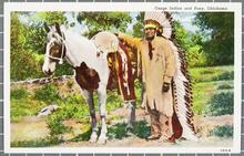 Osage Indian and Pony, Oklahoma