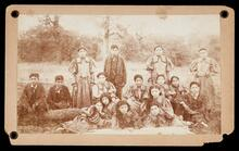 Indian School girls at Ponca Agency