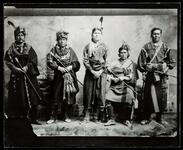 Group including Push-te-na-quah Or Chief Old Eye (Toledo, Iowa) and Wah-pan-no-keh