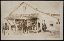 First Store at Wewoka, Seminole Nation, operated by Principal Chief John F. Brown and his brother Jackson