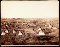 Hostile Indian Camp, the largest Indian camp in U.S. near Pine Ridge, S.D.