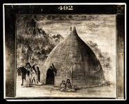 Photograph of Pawnee (Wichita) Lodge painted by George Catlin