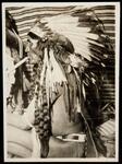 Unidentified Native American man smoking a pipe
