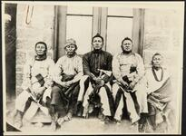 Five unidentified Osage men