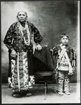 Osage woman and child