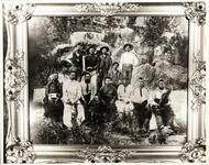 Unidentified Osage group, photograph of framed picture