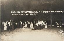 Creek Indian Stomp Dance at Fish Pond Ground near Okemah, Oklahoma