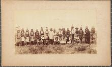 Indian Group, probably Kiowa, Southwestern Oklahoma