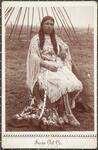 Kiowa Indian Girl with buckskin dress trimmed with elk teeth