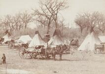 Kiowa Indian camp near Anadarko, Oklahoma Terr.