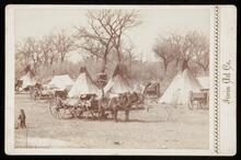 Kiowa Indian camp near Anadarko, Oklahoma Terr.