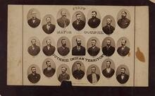 Portraits of first Mayor and Council of Guthrie, I.T.
