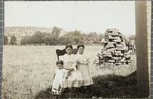 Grace, Maud, and Elma Glenn, three little Creeks worth millions, Glenn Pool, near Tulsa