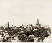 Historic Philtower building in Tulsa, Oklahoma under construction in the late 1920s
