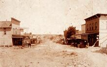 Photograph of Tulsa in 1896 at 2nd and Main Street looking North
