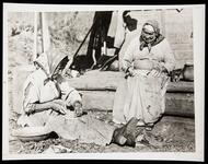 Cherokee Woman Making Pottery