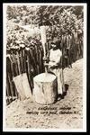 Cherokee Woman Making Corn Meal
