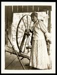 Woman and Spinning Wheel