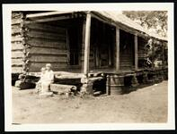 Possibly Sequoyah house, Two Girls on Porch
