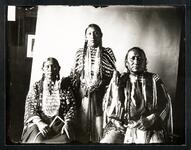 Cross Feathers, Wife And Daughter