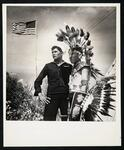 Possibly Fred W. Wenry (in uniform) and his brother-in-law at Anadarko, OK American Indian Exposition