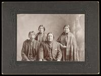 Two unidentified Otoe couples