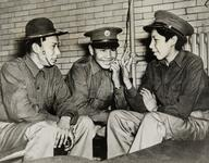 Frank Senache, Mike Wayne and Dewey Youngbear, U.S. National Guard