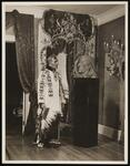 Chief Standing Bear of the Sioux Nation with his portrait head in Mahogany