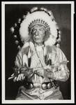 Unidentified Native American man with a pipe