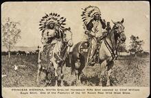 Princess Wenona and Chief Eagle Shirt on horseback