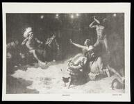 """Black and white photocopy of William R. Leigh's painting """"Pocahontas"""""""
