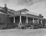 Photograph of Thomas Gilcrease in Front of his House