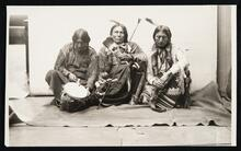 Delegation photograph of Big Looking Glass, Apache John and Wooden Lance