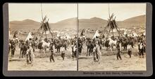Medicine men at Sun Dance, Camas, Montana