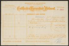 Certificate of Homestead Allotment