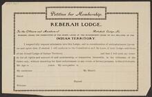 Blank Petition for Membership of Rebekah Lodge