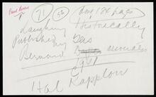 """Two handwritten notes regarding Leigh's painting """"The Midnight Ride of Paul Revere"""""""
