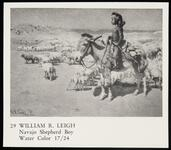 """Clipping of Leigh water color """"Navajo Shepherd Boy"""