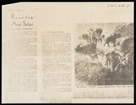 "Photocopy of newspaper article ""Roundup and Safari"" with picture of ""An African Episode"""