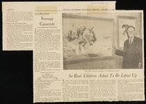 """Baltimore Sun article with photo of William R. Leigh and his painting """"A Fighting Cyclone"""""""