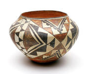 Polychrome ceramic olla jar