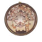 Polychrome ceramic bowl with kachina design