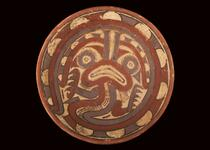 Ceramic bowl with painted zoomorphic designs